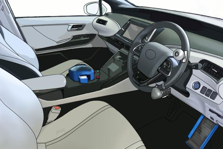 トヨタMIRAIに大野式手動スロットル・ペダルを装備