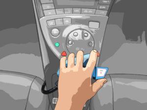 大野式手動スロットル装置 国際特許取得済 操作方法:左手親指