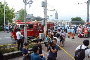 京都四条大橋踏み間違い事故現場