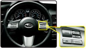 スバル全車速追随機能付クルーズコントロールスイッチ 出典:富士重工業