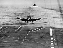 f4u-1d_of_vf-84_takes_off_from_uss_bunker_hill_cv-17_in_february_1944