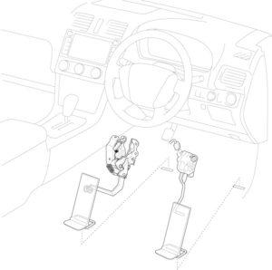 左足ブレーキ(線画)